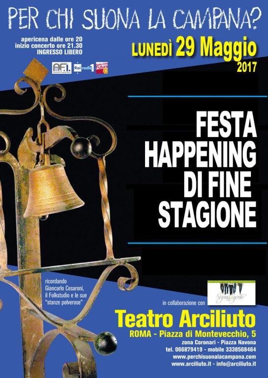 LUNEDì 29 MAGGIO FESTA HAPPENING